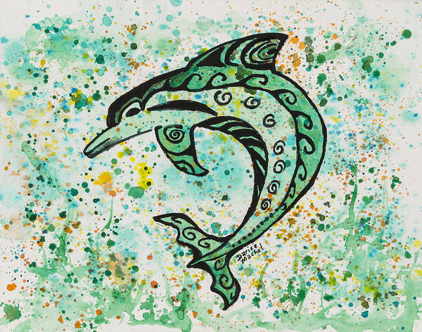 Painting - Dolphin 2 by Darice Machel McGuire