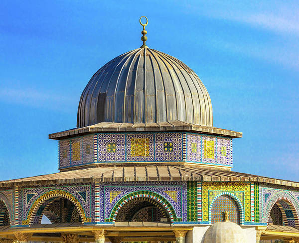 Jerusalem Photograph - Dome Of The Rock Arch, Temple Mount by William Perry