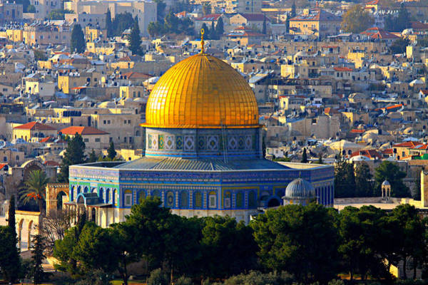 Mosque Photograph - Dome Of The Rock by Stephen Stookey