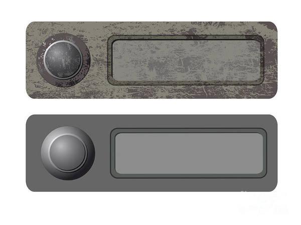 Dingy Digital Art - Doorbells by Michal Boubin