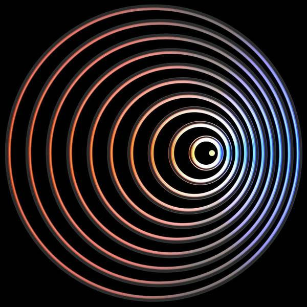 Wavelength Photograph - Doppler Effect by Russell Kightley