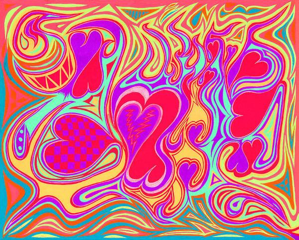 Double Broken Heart Art Print