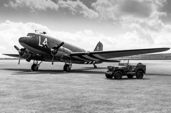 Photograph - Douglas C-47a Skytrain Ready For D-day by Gary Eason