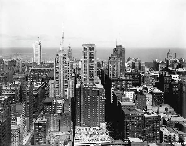 Photograph - Downtown Chicago by Underwood Archives