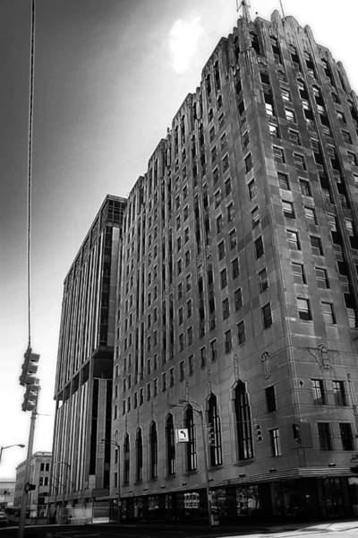 Photograph - Downtown Flint Black And White by Scott Hovind