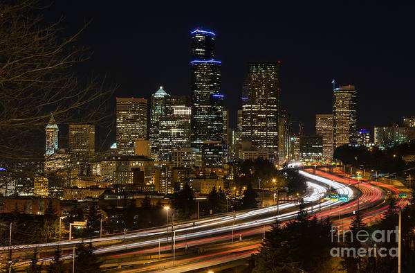 Wall Art - Photograph - Downtown Seattle by Eddie Yerkish