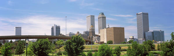 Centennial Bridge Photograph - Downtown Skyline From Centennial Park by Panoramic Images