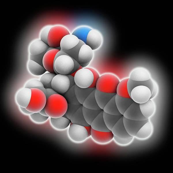 Pharmaceutics Wall Art - Photograph - Doxorubicin Drug Molecule by Laguna Design
