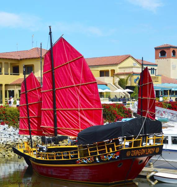 Dragon Boats Wall Art - Photograph - Dragon Lady At Venture Harbor by Barbara Snyder