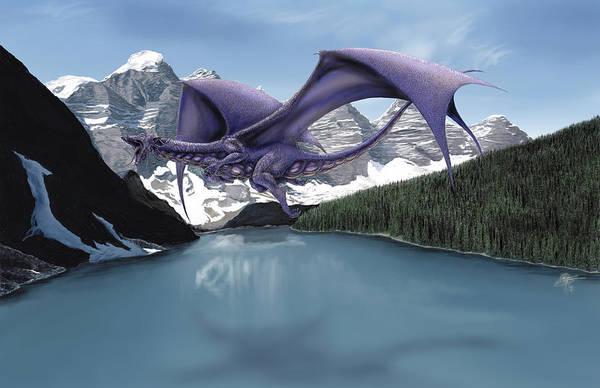 Wall Art - Painting - Dragon Lake by MGL Meiklejohn Graphics Licensing