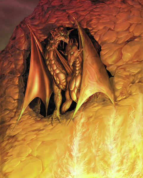Wall Art - Painting - Dragonfire by MGL Meiklejohn Graphics Licensing