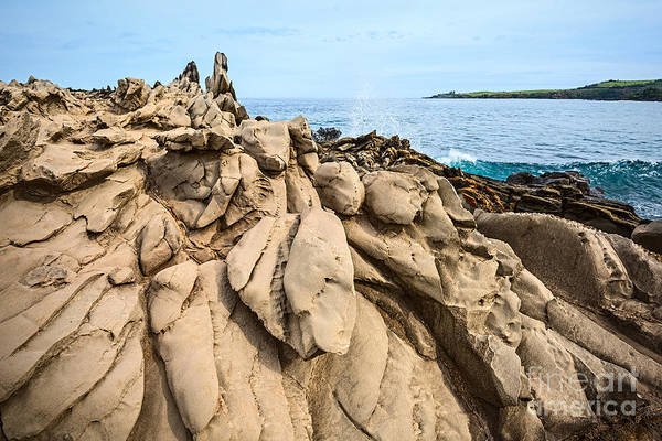Kapalua Photograph - Dramatic Lava Rock Formation Called The Dragon's Teeth In Maui. by Jamie Pham