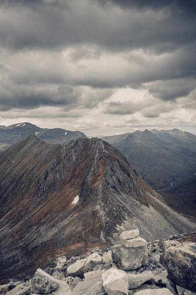 Dramatic Mountain Scenery In The Scottish Highlands Art Print by Leander Nardin