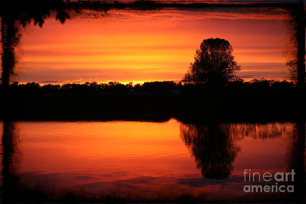 St Ignace Wall Art - Photograph - Dramatic Sunset by Sophie Vigneault