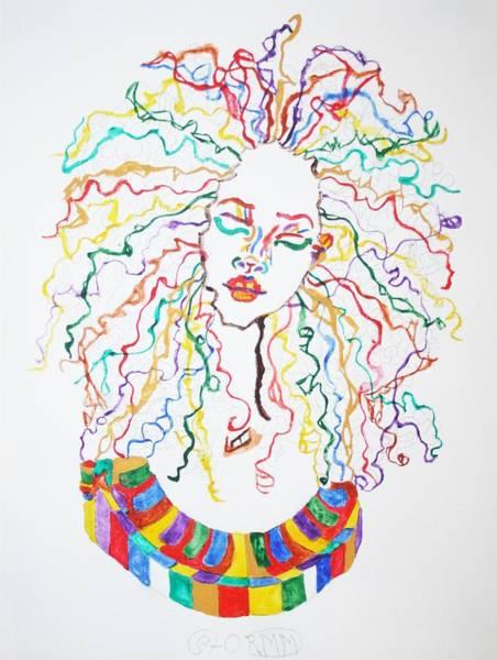 Wall Art - Painting - Dreadlocks Piano Goddess by Stormm Bradshaw