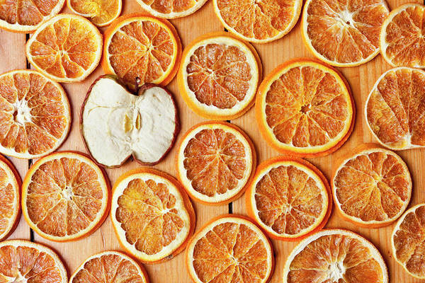 Slice Photograph - Dried Orange And Apple Slices by Nils Hendrik Mueller