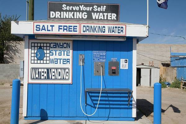 Dispenser Photograph - Drinking Water Vending Machine by Jim West