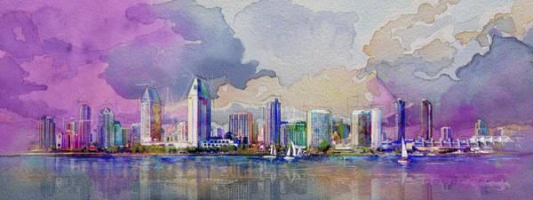 Expo Wall Art - Painting - Dubai Skyline by Corporate Art Task Force