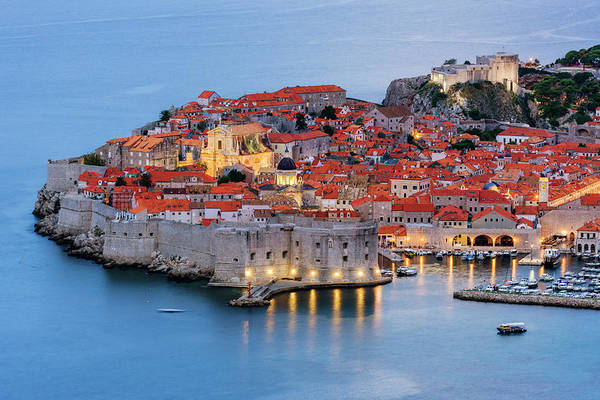 History Photograph - Dubrovnik City Skyline At Dawn by Pixelchrome Inc