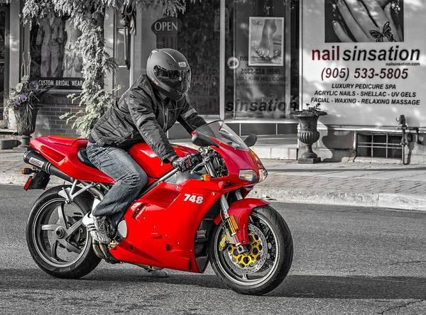 Bolton Wall Art - Photograph - Ducati 748 by Steve Harrington