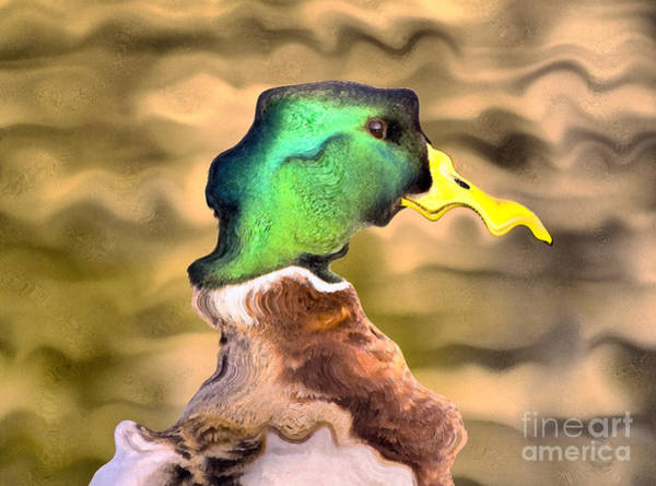 Painting - Duck Portrait by Odon Czintos