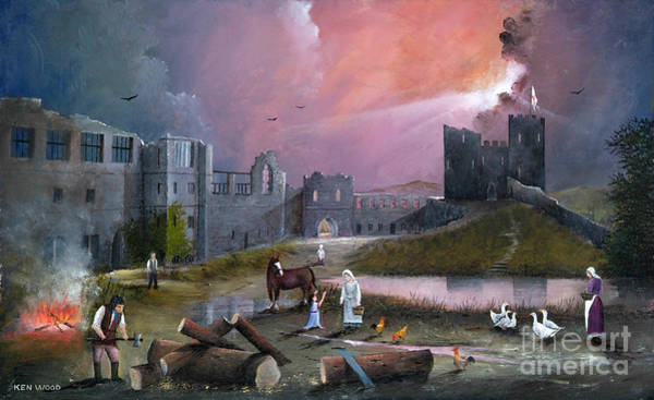 Painting - Dudley Castle 3 C1750 by Ken Wood