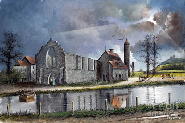 Painting - Dudley Priory C1700s by Ken Wood