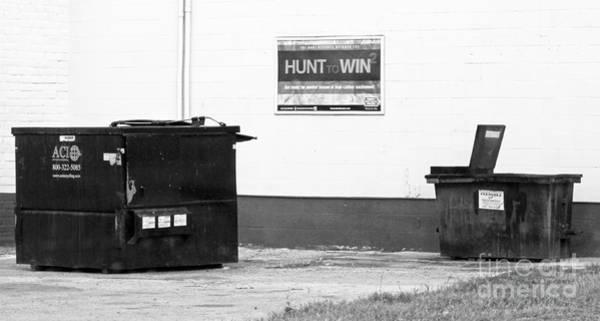 Humor In Art And Photograph - Dumpster Diving by Joe Pratt