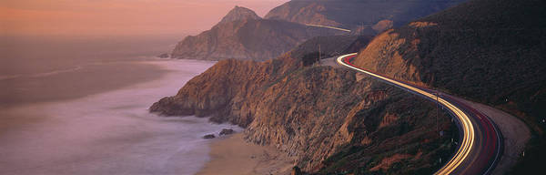 Coastal Highway Wall Art - Photograph - Dusk Highway 1 Pacific Coast Ca Usa by Panoramic Images