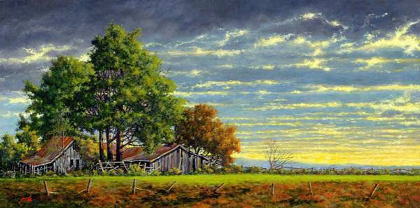 Country Scene Wall Art - Painting - Dusk by Jim Gola