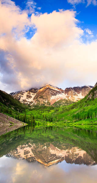 Photograph - Early Light At Maroon Lake by Adam Pender