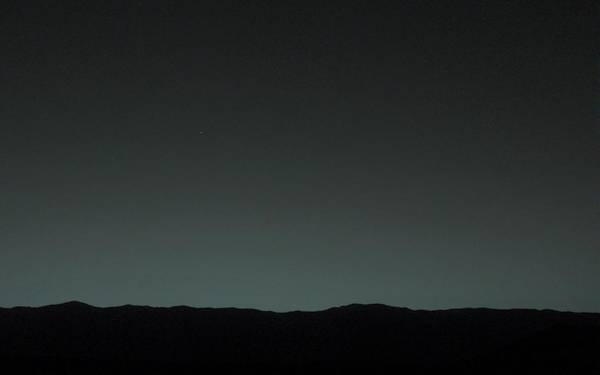 January Photograph - Earth From Mars by Nasa/jpl-caltech/msss/tamu