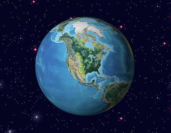 Earth In Space Art Print