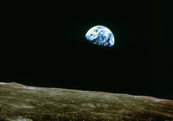 Wall Art - Photograph - Earthrise Over Moon by Nasa