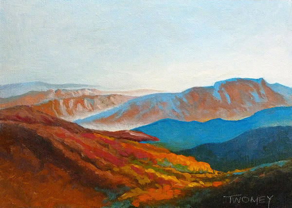 Wall Art - Painting - East Fall Blue Ridge Mountains 2 by Catherine Twomey