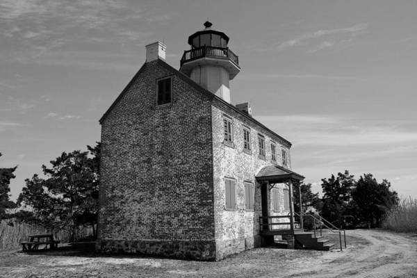 Photograph - East Point Lighthouse 1 - Bw Series by Kristia Adams