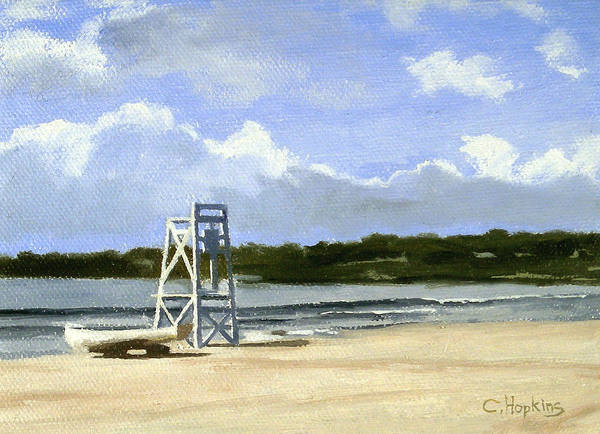 Wall Art - Painting - Easton's Beach Newport Rhode Island by Christine Hopkins