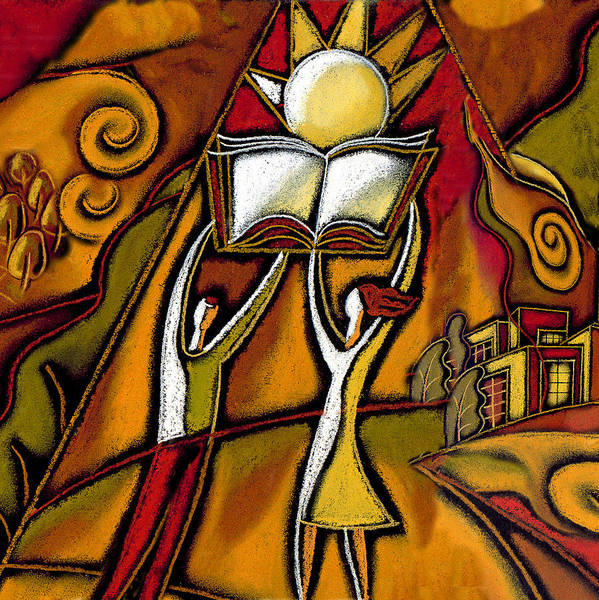 Educating Wall Art - Painting - Education by Leon Zernitsky
