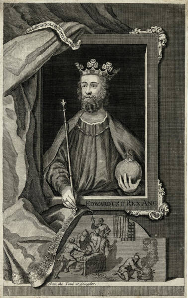 Wall Art - Drawing - Edward II           Date 1284 - 1327 by Mary Evans Picture Library