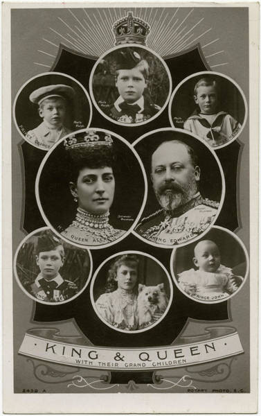 Wall Art - Photograph - Edward Vii   With Alexandra by Mary Evans Picture Library