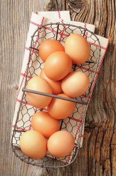 Napkin Photograph - Eggs by Riou