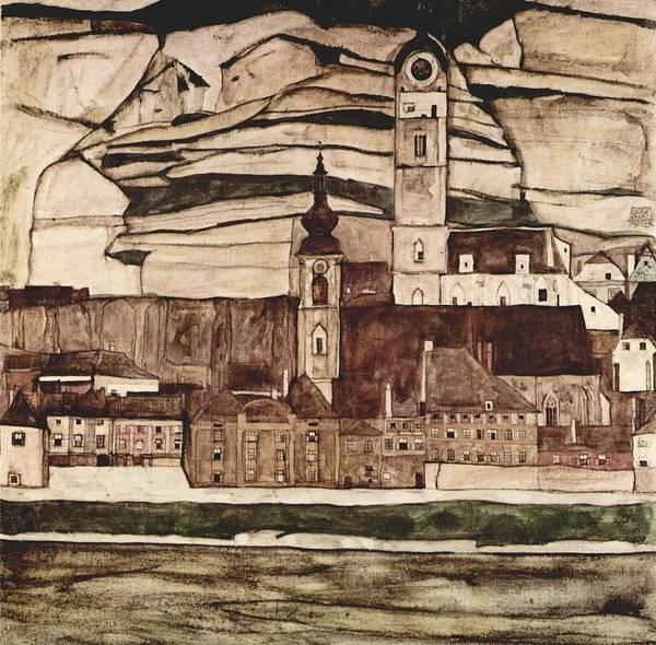 Painting - Egon Schiele Landscapes by Celestial Images