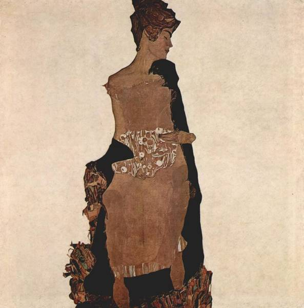 Painting - Egon Schiele Painting  by Celestial Images