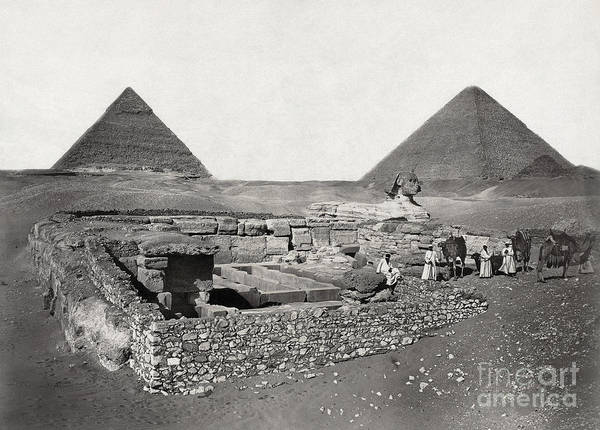 Photograph - Egypt: Cheops Pyramid by Granger