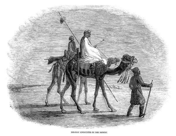 Camel Rider Painting - Egypt Desert Scene by Granger