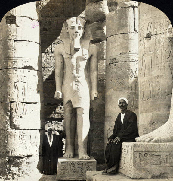 Wall Art - Photograph - Egypt Luxor Temple by Granger