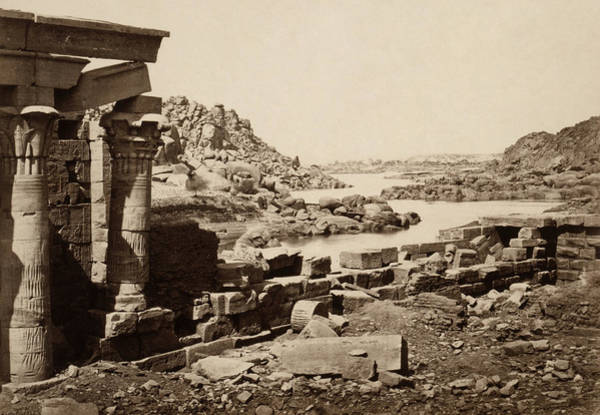 Wall Art - Photograph - Egypt Philae, 1857 by Granger