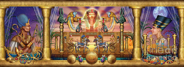 Chariot Wall Art - Digital Art - Egyptian by MGL Meiklejohn Graphics Licensing