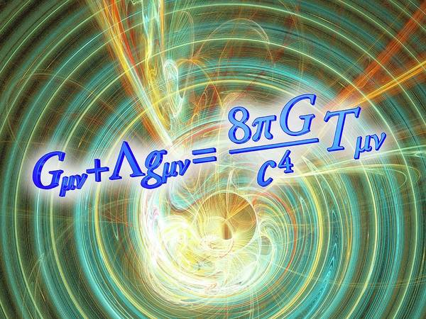Equation Wall Art - Photograph - Einstein Field Equation by Alfred Pasieka
