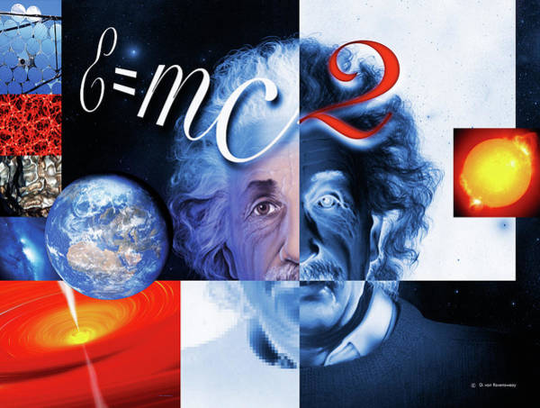 Mass-energy Equivalence Wall Art - Photograph - Einstein's Physics by Detlev Van Ravenswaay/science Photo Library